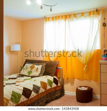 Children living room interior - stock photo