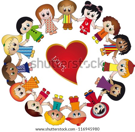children love - stock photo