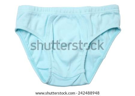 Children panties isolated on white background - stock photo