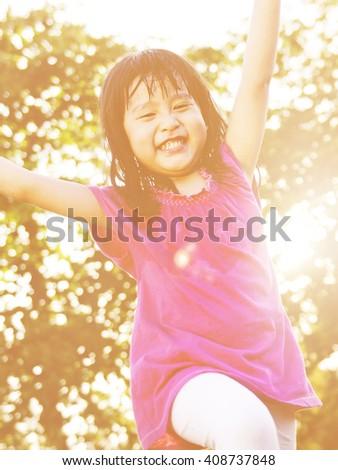 Children Playful Enjoyment Friendship Concept - stock photo