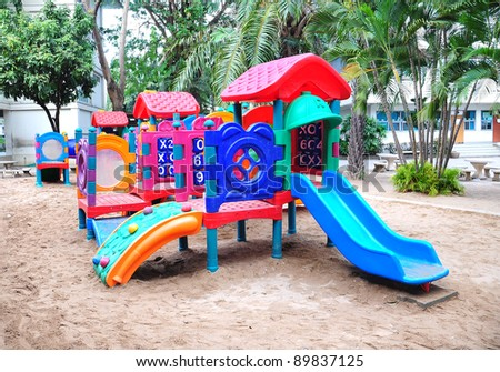 Children playground colorful
