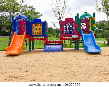 Children playground in public park