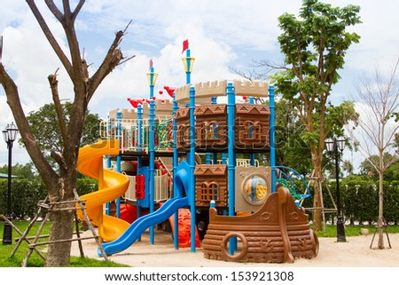 children playground in the park - stock photo