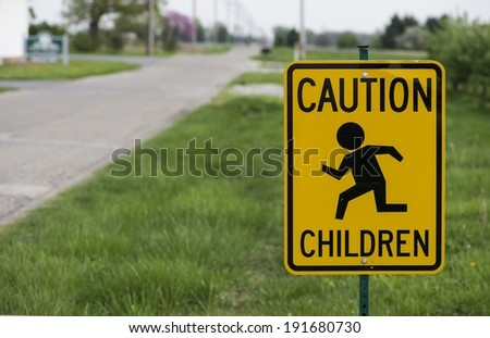children running sign - stock photo