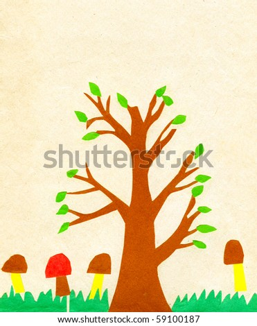 Children's application paint tree