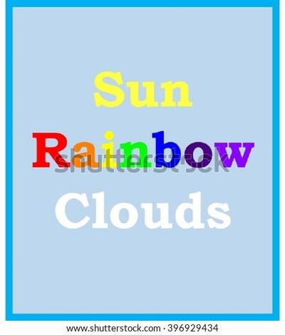 Children's Art Sky - stock photo