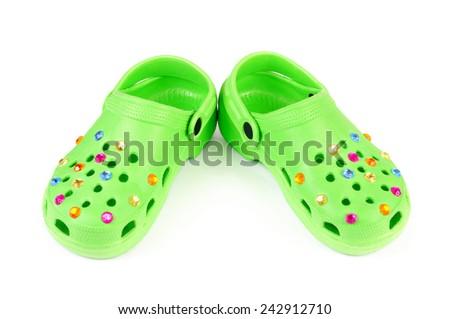 Children's beach slippers - stock photo