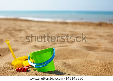 Children's beach toys - stock photo