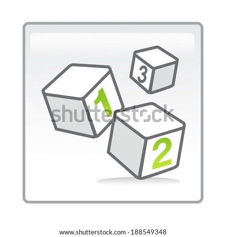 Children's 123 building blocks - stock photo