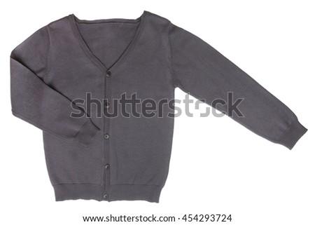Children's cardigan isolated on white background - stock photo