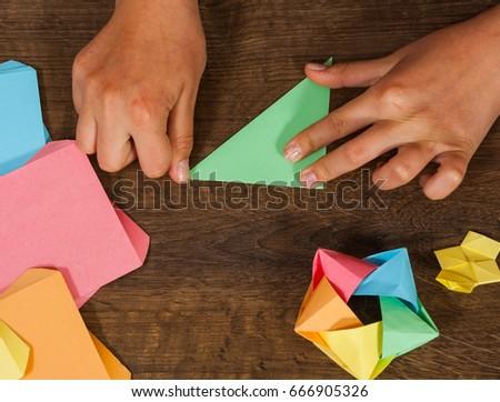 Childrens Creativity Made Of Paper Origami Crafts Handicrafts For Children Handmade On