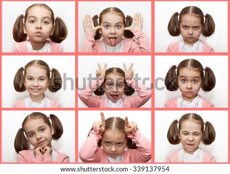 Children's emotions - stock photo