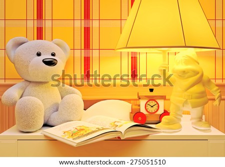 Children's fairy tale for the night. - stock photo