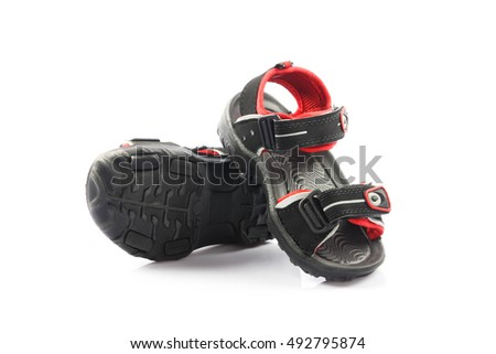 Children's footwear isolated on a white