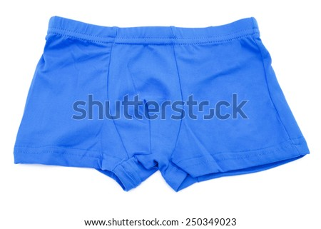Children's orange swimming shorts isolated on white background with clipping path.
