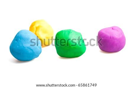 children's Plasticine - stock photo