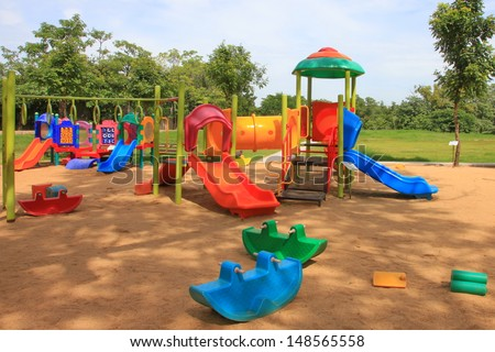 Children's play house in a yard  - stock photo