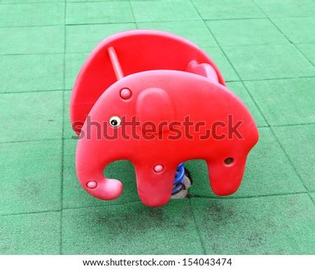 Children's playground equipment  - stock photo