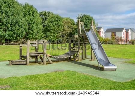 Children's Playground Slide - stock photo