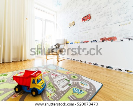Children's room in a new modern house