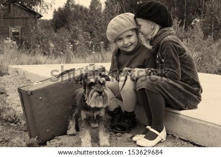 Children's secrets - stock photo