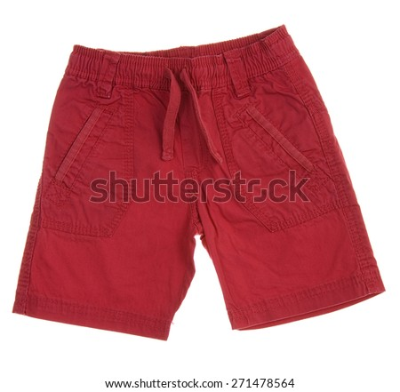 Children's shorts isolated on white background