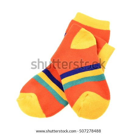 children's socks isolated on white