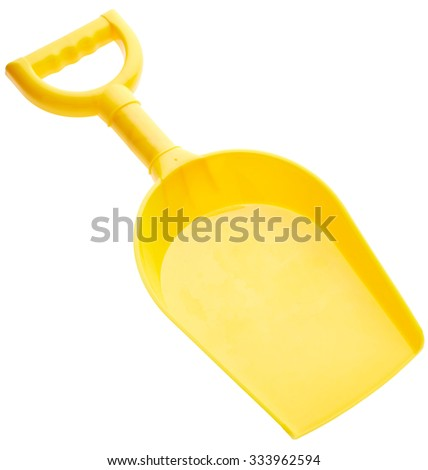 Children's spade isolated on white background