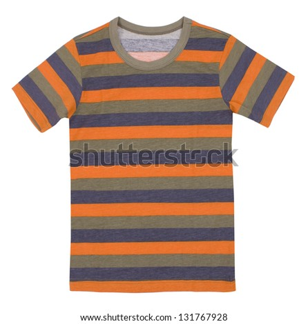 Children's t-shirt isolated on white background. - stock photo