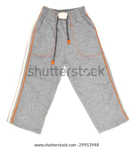 Children's wear - jogging trousers isolated over white background