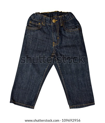 Children's wear - kid  jeans isolated over white background