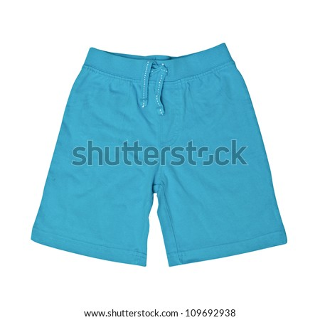Children's wear - kid shorts isolated over white background - stock photo