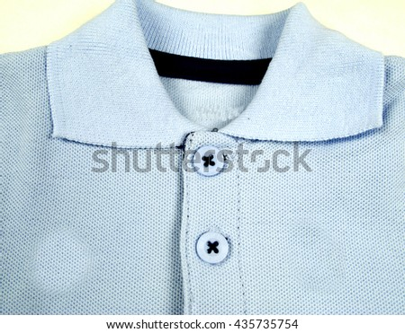 Children's wear - shirt isolated over white background - stock photo