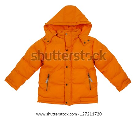 Children's winter jacket - stock photo