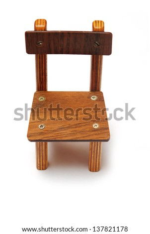 children's wooden chair on a white background