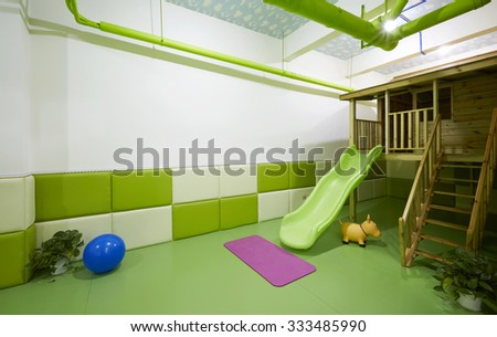 Children school and Family home interiors,Recreation classroom