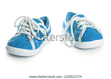 children shoes isolated on white background.