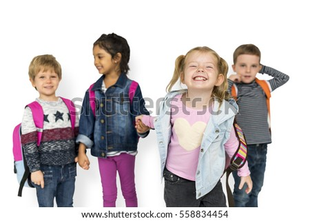 Children Smiling Happiness Friendship Togetherness
