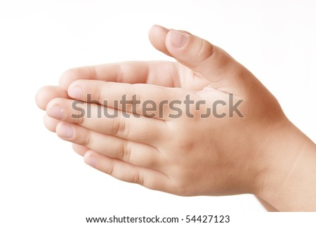 Children two hands