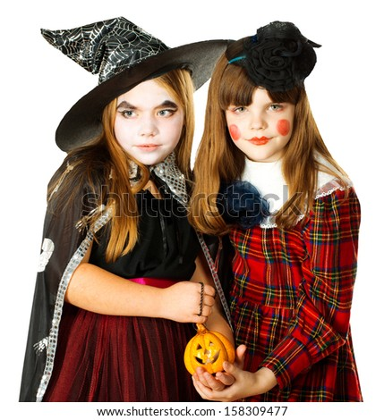 Children wearing for Halloween