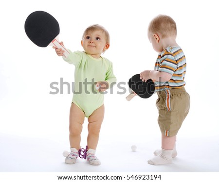 children with table tennis racket