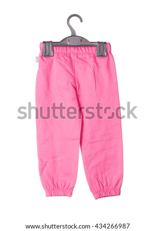 Childrens kntted trousers. Isolated on the white background.
