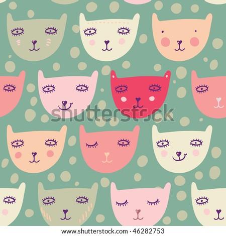Childrens seamless pattern - stock photo