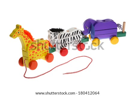 Childrens Wooden Toy - stock photo