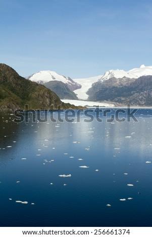 Chile - Amalia Glacier On The Edge Of The Sarmiento Channel - Skua Glacier - Bernardo O'Higgins National Park / Chile - Amalia Glacier In Sunny Day - stock photo