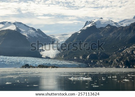 Chile - Amalia Glacier On The Edge Of The Sarmiento Channel - Skua Glacier - Bernardo O'Higgins National Park / Chile - Amalia Glacier Landscape - stock photo