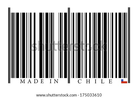 Chile Barcode on white background