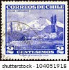 CHILE - CIRCA 1960: A stamp printed in Chile shows Choshuenco volcano, circa 1960. - stock photo