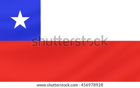 Chile country flag - 3D illustration. - stock photo
