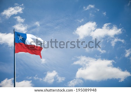 Chile flag - stock photo